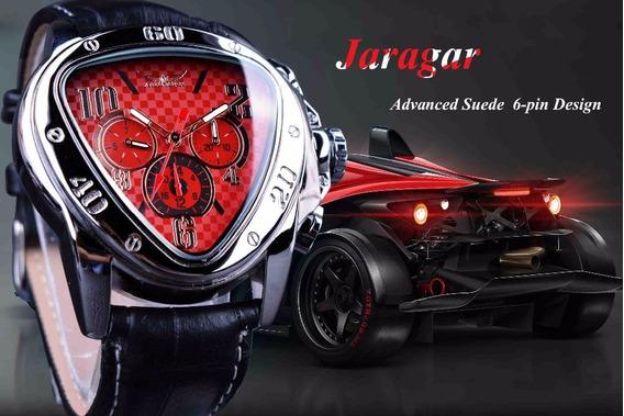 Jaragar Sport Racing Design Triângulo Geométrico Vermelho