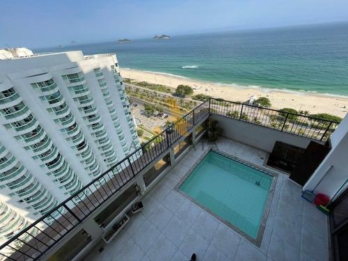 Imagem 1 de 29 de Avenida Lúcio Costa - Barramares - Excelente Apartamento Com Vista Mar Em Todos Os Cômodos , Sol Da Manhã - Sqa2081d - 69325938