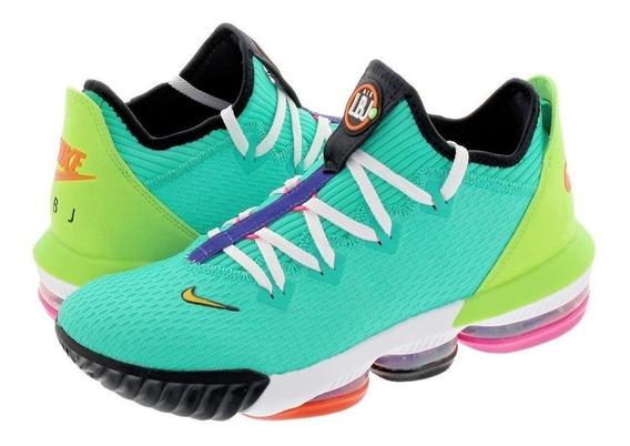 Nike Lebron 16 Low Hyper Jade Ci2668-301 Tenis