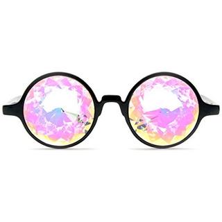 Glofx Gafas De Caleidoscopio Negro Arco Iris Rave Prisma Dif