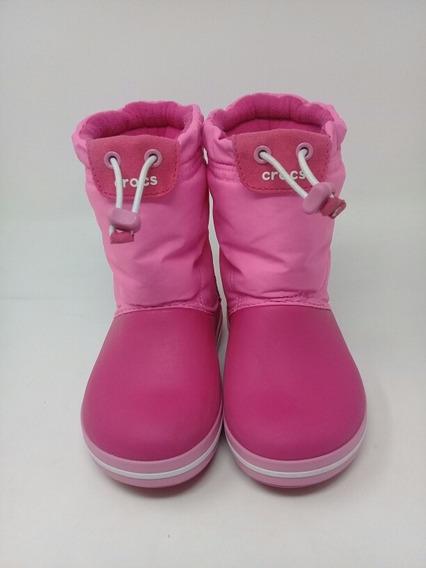 Botas Crocs Nieve Lluvia Rosa Niña. La Segunda Bazar