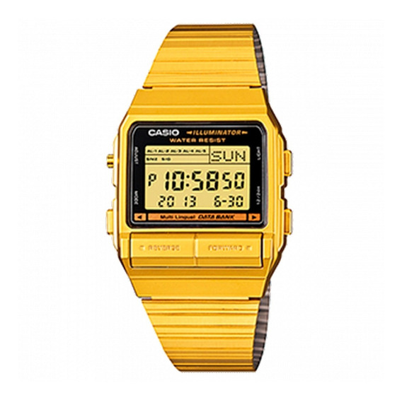 Relógio Casio Vintage Data Bank - Db-380g-1df
