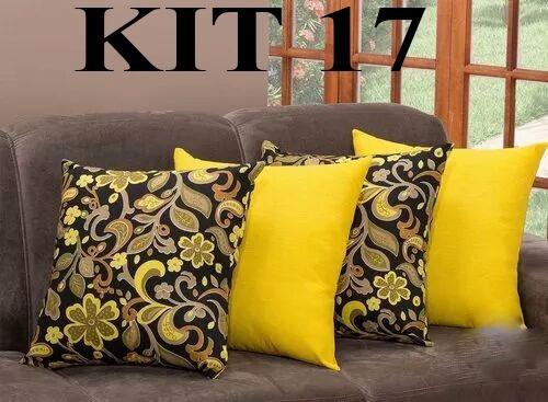 Kit 12 Almofadas Decorativa Estampadas 45cm X 45cm Cheias