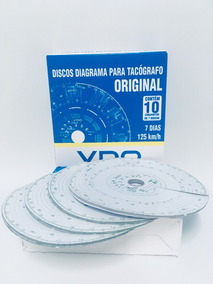 Disco De Tacógrafo 125 Km Semanal Vdo Original 5 Cx