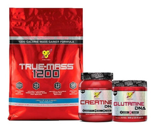 Bsn True Mass 10lb + Creatina Dna + Glutamina Dna