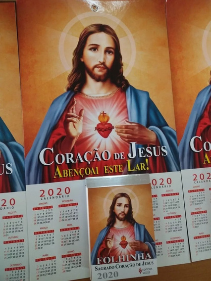 Folhinha Sagrado Coração De Jesus Com Bloco Diário Ano 2020