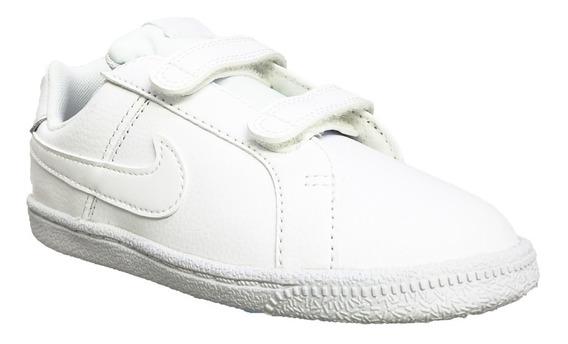 Tenis Nike Escolar Blanco Niño O Niña Court Royale 833536