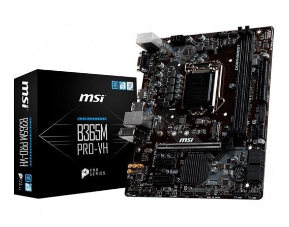 Mother Msi S1151 B365m Pro-vh Box Ddr4 2666 8va Y 9va Gen Pc