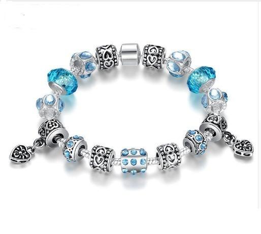 Pulseiras Berloque Estilo Vivara Pandora Azul