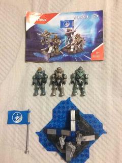 Halo Mega Construx Integrantes Del Blue Team.