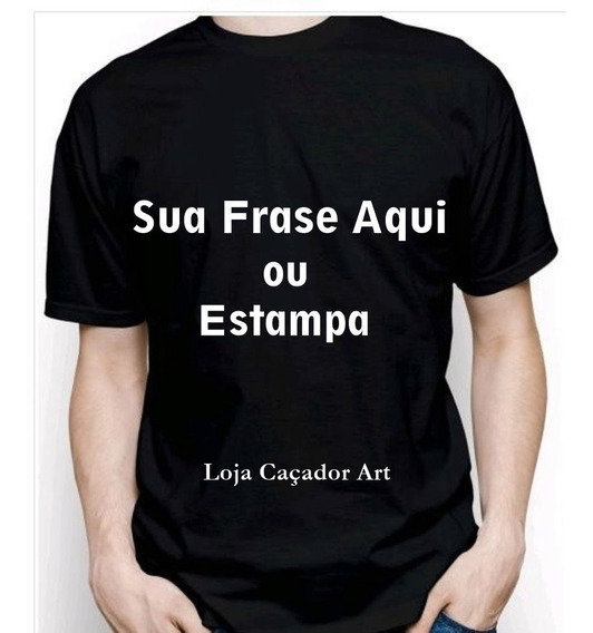 Camisetas Personalizadas Pretas E Coloridas Com Sua Estampa