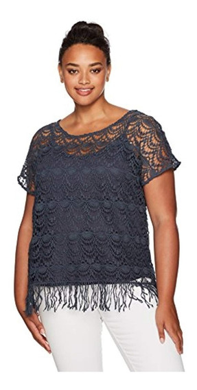 Junarose Women S Plus Size Short Sleeve Crochet Top