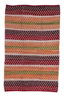 Alfombra Mangalore Grande Okko Yute 160x240 Rojo