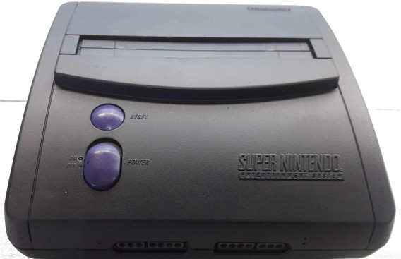 Super Nintendo Baby Customizado Preto Fosco Completo