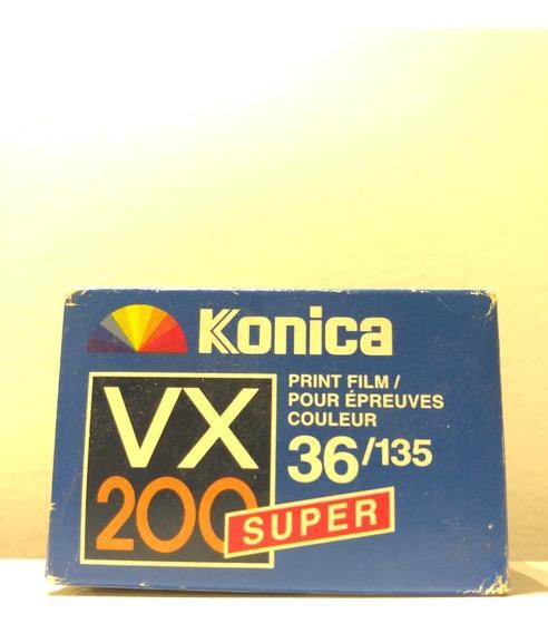 Filme Fotografico Konica Vx200 Super 135 36p Vencido Japão