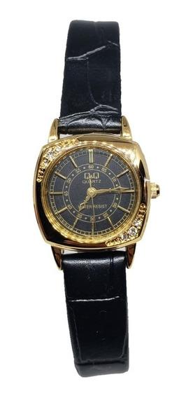 Reloj Para Dama Citizen Qyq Original Plata Dorado 704y