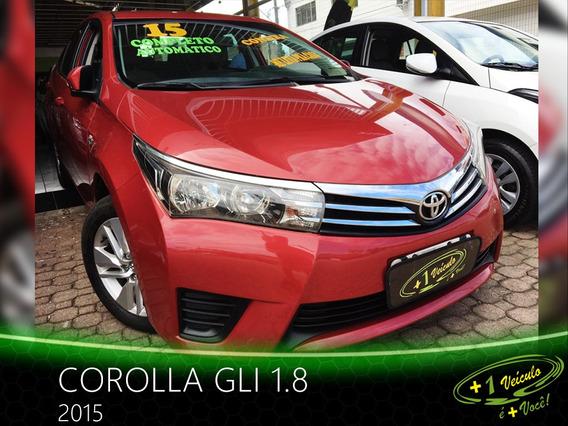 Toyota Corolla Gli 1.8 2015 Vermelho