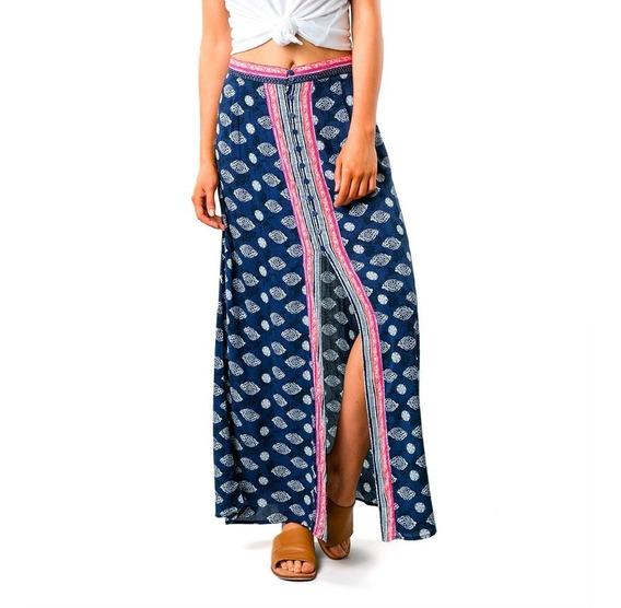 Pollera Rusty Lantana Maxi Skirt