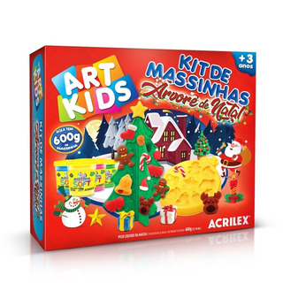 Kit De Massinha Árvore De Natal 600g Art Kids Acrilex