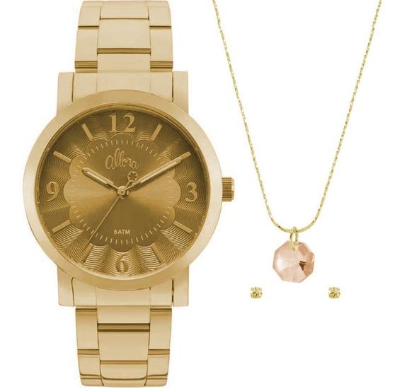 Relógio Feminino Allora Al2035fna/k4d Dourado