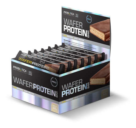 Wafer Protein Bar - Probiótica - 360g