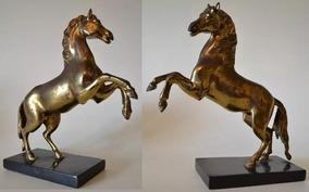 Escultura Bronze Cavalo Empinando