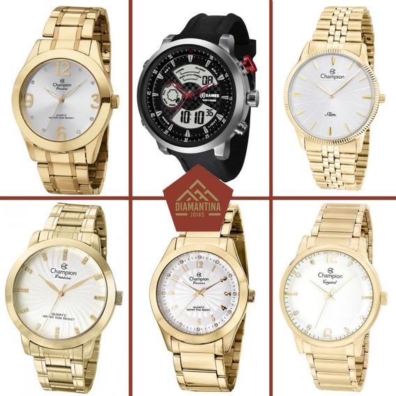 Kit Atacado 6 Relógios Champion Feminino E Masculino Originais Com Garantia E Nota Fiscal