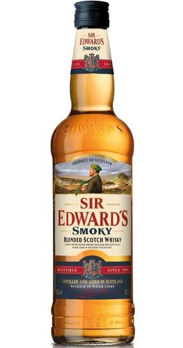 Whisky Sir Edwards Smoky Double Black Escoces Envio Gratis