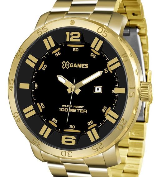 Relógio X-games Masculino Dourado Sport Xmgs1022 P2kx