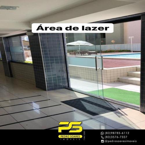 (oportunidade)  Apartamento Com 3 Dormitórios À Venda, 100 M² Por R$ 480.000 - Manaíra - João Pessoa/pb - Ap4663