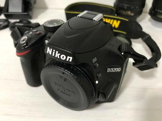 Nikon D3200 + 02 Lentes + Mochila + Acessórios