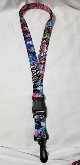 Monster High, Cinta Porta Llaves O Gafete, Nueva