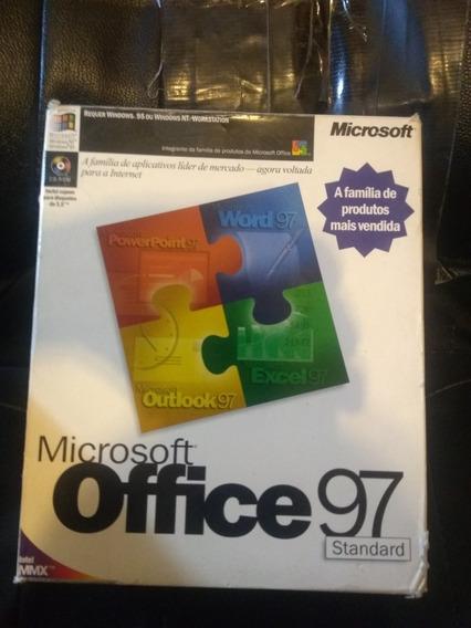 Kit Microsoft Office 1997 Original Na Caixa C/nf,cd E Livro