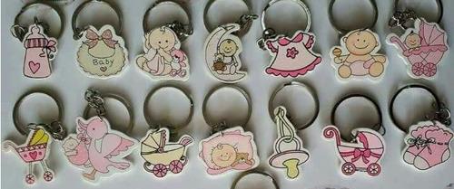 10 Llaveros Recuerdo - Souvenirs * Baby Showers - Bautizos