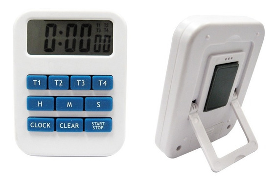 Timer Y Reloj Digital Sonoro De 4 Tiempos Luft Ti249