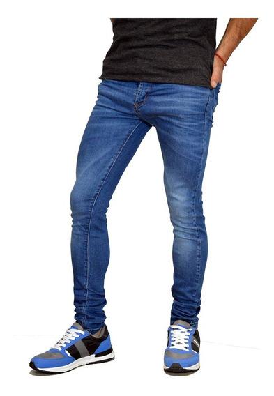 Jean Super Skinny Chupin Elastizado Hombre Mistral 15101