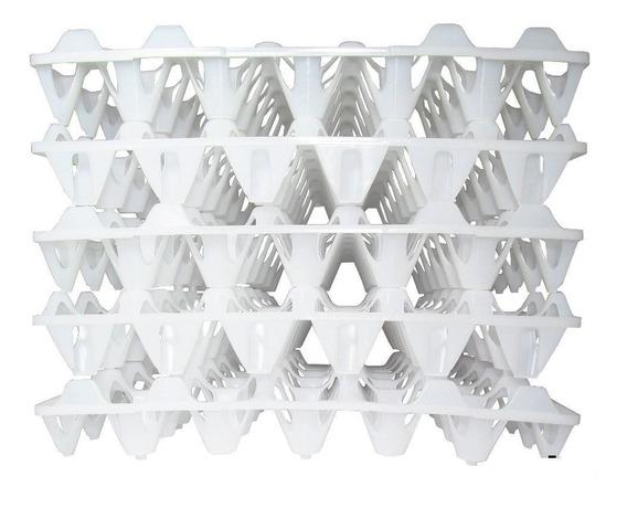 Bandeja Plástica Transporte De Ovos Pct 10 Unidades Branca