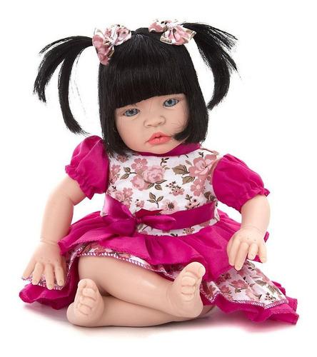 Imagem 1 de 8 de Boneca Tipo Bebê Reborn Baby Kiss Brinquedo Morena E Loira
