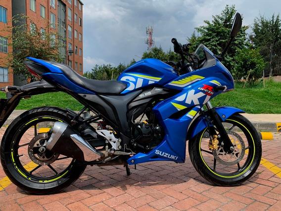 Suzuki Gixxer Sf 150 Azul Moto Gp Llantas Michelin Pilot St