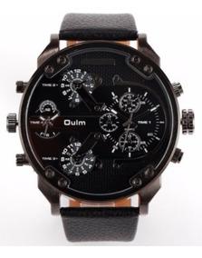 Relógio Oulm 3548 Preto + Frete Grátis