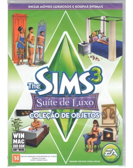 The Sims 3 Suíte Luxo Jogo Pc Original Mídia Física Lacrado