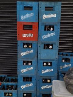 Cajones De Cerveza 3/4 Quilmes Vacios Con Botella
