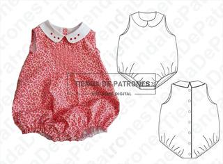 Moldes Patrones Body Ranita Bebes Pack Talles 1/3/4/6/9/12m