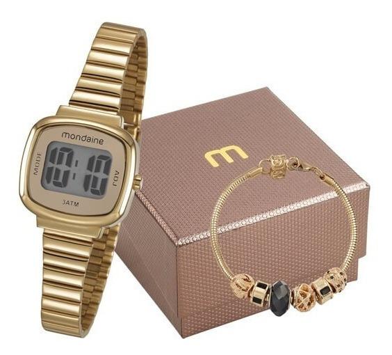 Relógio Feminino Digital Mondaine Com Pulseira 53717lpmvde1k