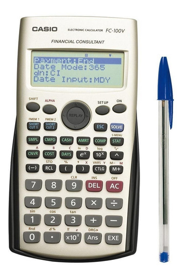Calculadora Casio Financiera Fc-100v 4 Lin 10+2 Dig Env Grat