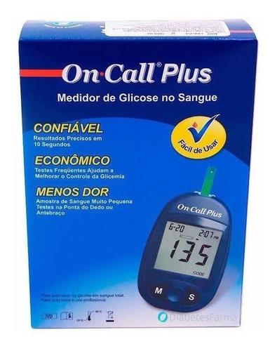 Medidor De Glucosa On Call Plus + 50 Tiras Test De Prueba 6c