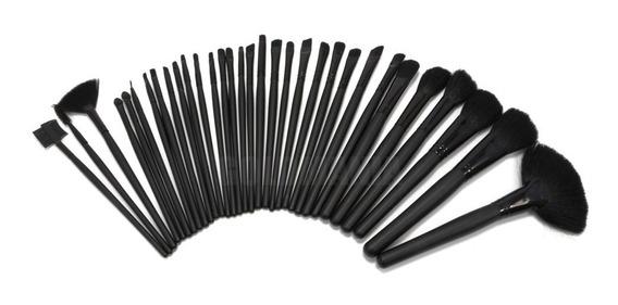 Kit Com 32 Pincéis Para Maquiagem Pincel Com Case Estojo