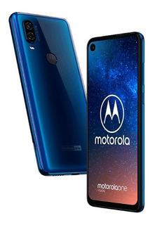 Celular Motorola One Vision, 128 Giga, Azul