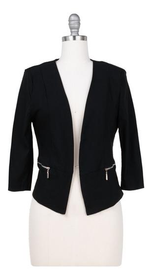 Saco Formal De Vestir Corto, Oficina, Strech, Cremallera.