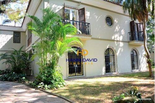 Belíssima Casa Á Venda No Jardim América Com 4 Dormitórios, 2 Suítes, 4 Vagas - 600 M² Em Ótimo Estado - Ca0190